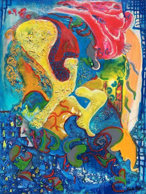 La fille au manteau rouge Artists Leda Risse Painting Fabled Gallery https://fabledgallery.art/product/la-fille-au-manteau-rouge/