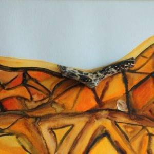 Caressing a Giraffe Artists Céline Annen Painting Fabled Gallery https://fabledgallery.art/product/caressing-a-giraffe/