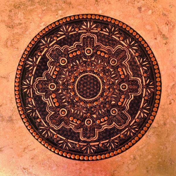 Hamsa mandala / Copper Artists Natali Schäfer Other arts Painting Fabled Gallery https://fabledgallery.art/product/hamsa-mandala-copper/