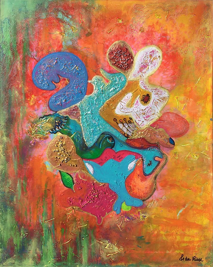 La botte magique Artists Leda Risse Painting Fabled Gallery https://fabledgallery.art/product/la-botte-magique/